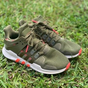 adidas Shoes - Adidas EQT - Olive green and coral